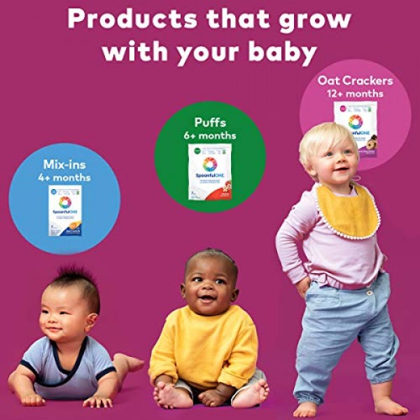 SpoonfulONE Food Allergen Introduction Oat Crackers   Smart Feed...