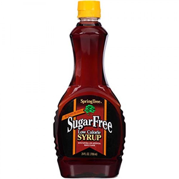 Spring Tree Sugar Free Syrup, 24 Ounce Pack of 12