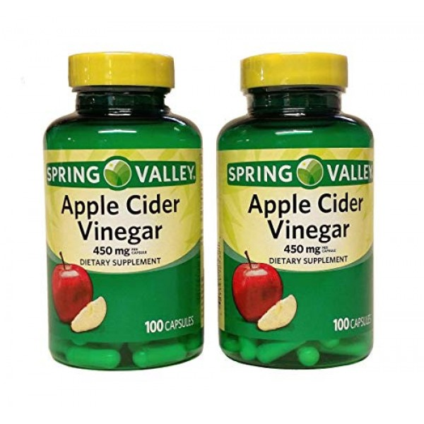 2 Pack Spring Valley Apple Cider Vinegar Dietary Supplement Caps...