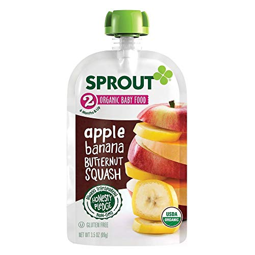 Sprout Organic Baby Food Apple Banana Butternut Squash - 3.5oz ...