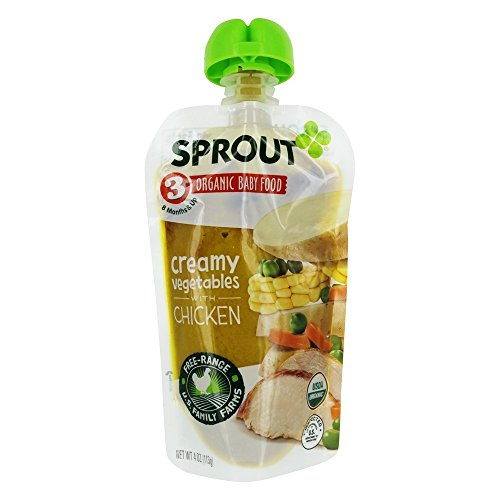 Sprout - Organic Baby Food Stage 3 8 Months Creamy Vegetables wi...
