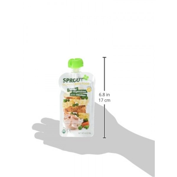 Sprout Organic Baby Food Stage 3 Pouches, Creamy Vegetables with...