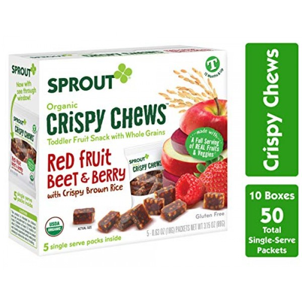 Sprout Organic Baby Food Toddler Snacks Crispy Chews, Red Fruit ...