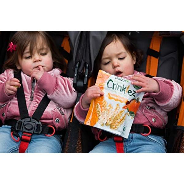 Sprout Organic Crinklez Toddler Snacks, Pumpkin Carrot, 1.48 Oun...