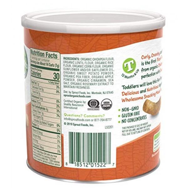 Sprout Organic Curlz Toddler Snacks, Sweet Potato & Cinnamon, 1....