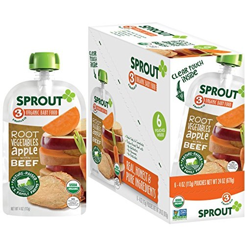 Sprout Organic Stage 3 Baby Food Pouches, Root Vegetables Apple ...
