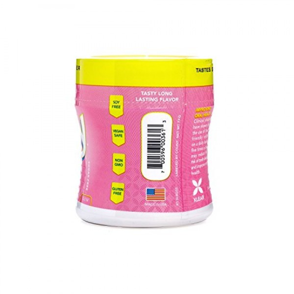 Spry Xylitol Gum, Stronger Longer Bubble Gum, 55ct