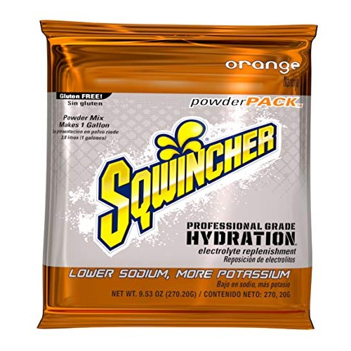 Sports Drink Mix Powder, Orange 9.5 oz, PK20