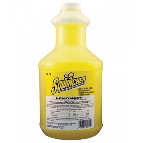 Sqwincher 64 Ounce Liquid Concentrate Bottle Lemonade Electroly...