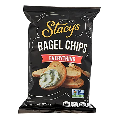 STACYS PITA CHIPS, Bagel Chips,Everything, Pack of 12, Size 7 O...