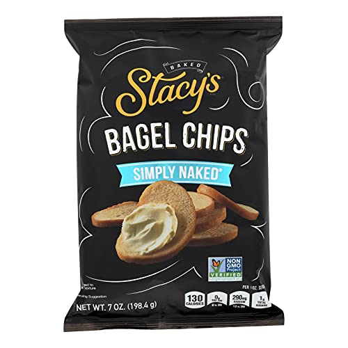 STACYS PITA CHIPS, Bagel Chips,Simply Naked, Pack of 12, Size 7...