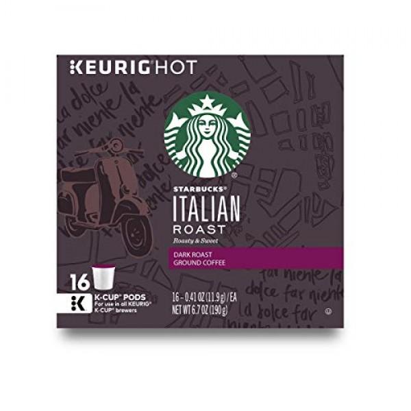 Keurig K-Cup Pod Starbucks Italian Roast Coffee - 16-pk.