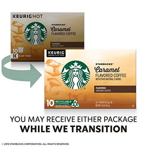 Starbucks Caramel Flavored Medium Roast Single Cup Coffee for Ke...