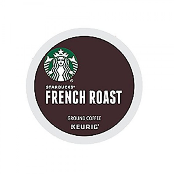 Starbucks French Roast Dark Coffee K-Cups 24-Count Pack of 2