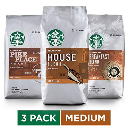 Starbucks Medium Roast Ground Coffee Variety Pack, 12 Ounce Pac...