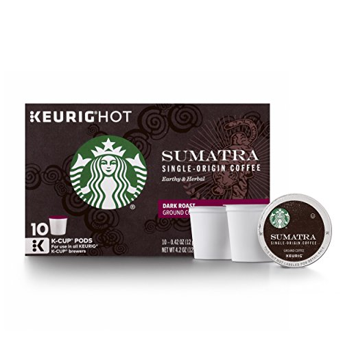 Starbucks Sumatra Dark Roast Single Cup Coffee for Keurig Brewer...