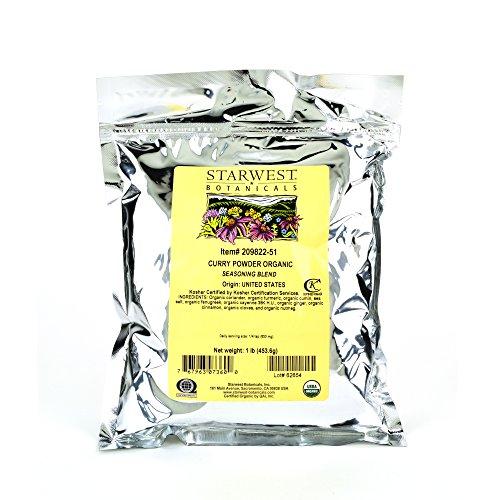 Starwest Botanicals Organic Curry Powder Spice Blend, 1 Pound Bu...