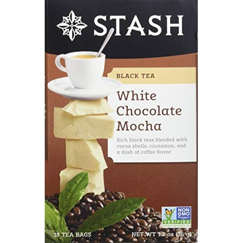 Stash Tea White Chocolate Mocha 18 Count Teabags in Foil Pack o...