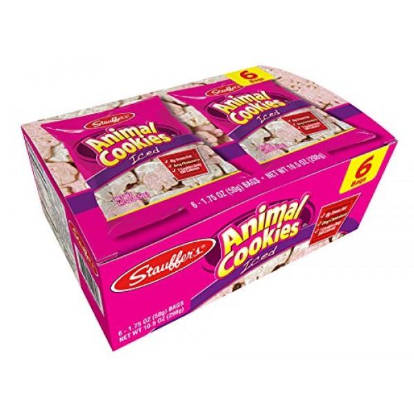 Stauffers 12 Snack Pack Set Iced Animal Cookies, 1.75 Oz. Each