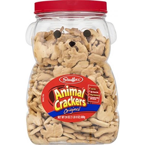 Stauffers Original Animal Crackers 24 oz. Bear Jug 2 Containers...