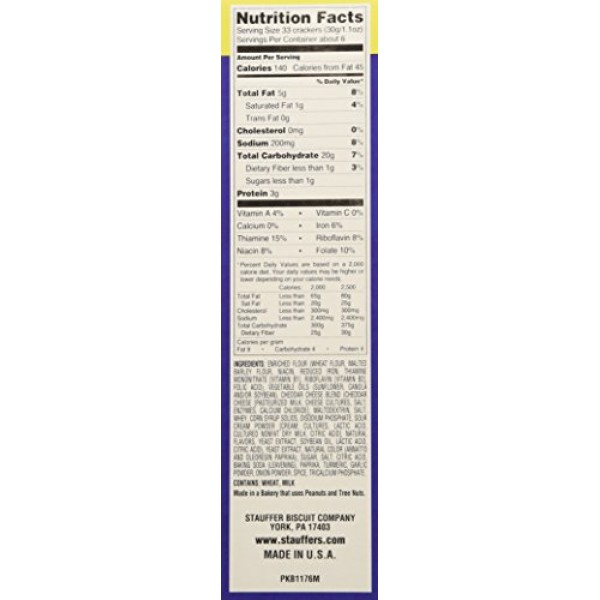 Stauffers, Whales Baked Snack Crackers 7ozpack of 3