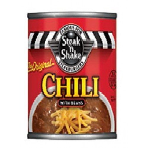 Steak n Shake Chili with Beans 15 Oz Can Pack of 4