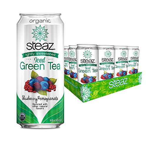 Steaz Organic Lightly Sweetened Iced Green Tea, Blueberry Pomegr...
