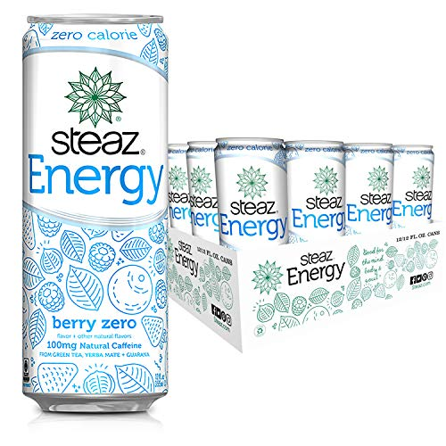 Steaz Energy - Zero Calorie - Berry - ALL Natural Energy Drink -...