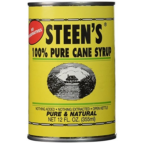 Cane Syrup - Steens 100% Pure - 12 Fl 0z. Can Pack of 6