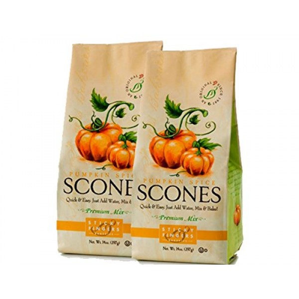 Sticky Fingers Scone Mix Pack of 2 15 Ounce Bags – All Natural...