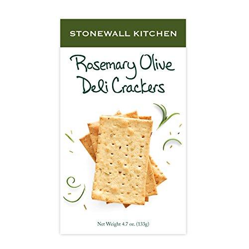 Stonewall Kitchen Rosemary Olive Deli Cracker, 4.7 Ounce