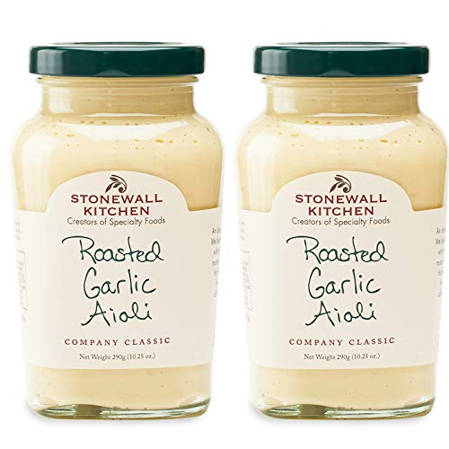 Stonewall Kitchen Roasted Garlic Aioli, 10.25 Ounce Pack of 2