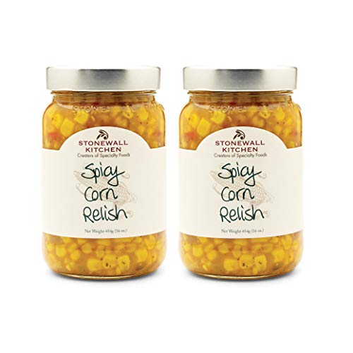 Stonewall Kitchen Spicy Corn Relish, 16 Ounces Pack of 2