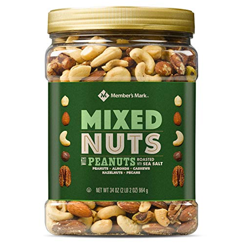 Members Mark Roasted and Salted Mixed Nuts with Peanuts 34 oz. A1