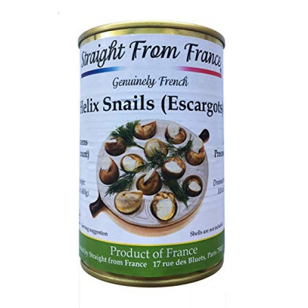 Straight from France French Lucorum Canned Escargots Snails 4 D...