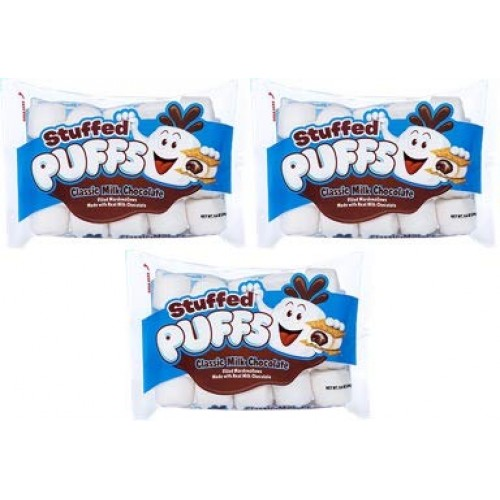 Stuffed Puffs - Classic Milk Chocolate 3 Pack, Chocolate Filled ...