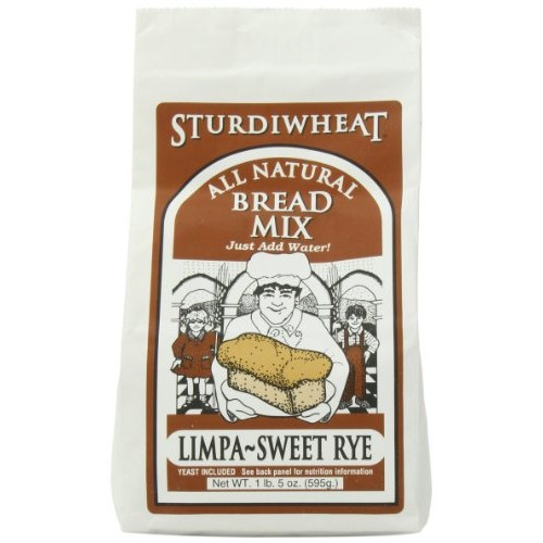 Sturdiwheat All Natural Bread Mix, Limpa-Sweet Rye, 21-Ounce Pac...