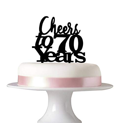 Cheers to 70 years cake topper 70th birthday,70th wedding annive...