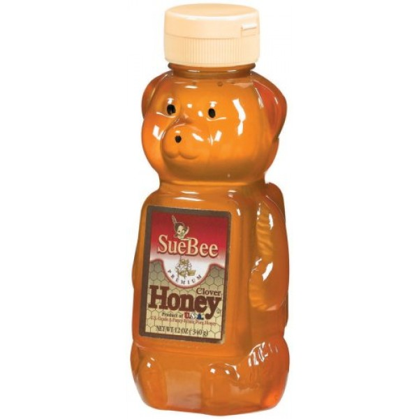 Sue Bee Clover Honey Bears, 12-Ounce Units Pack of 12