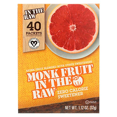 Sugar In The Raw Monk Fruit In The Raw - 40 per pack - 8 packs p...