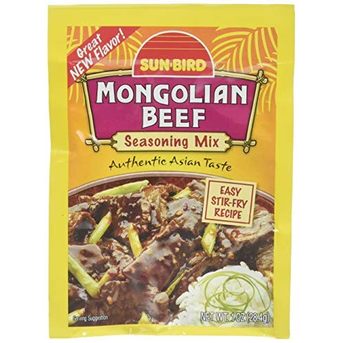 SUNBIRD MIX SSNNG BEEF MONGOLIAN, 1 OZ pack of 10