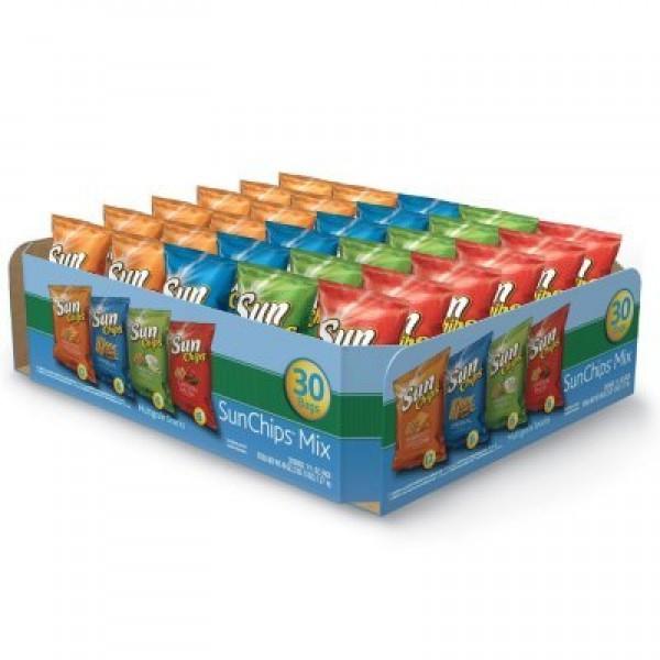 Frito Lay Sun Chips Multigrain Variety box - 30 Bags 2 Pack - ...