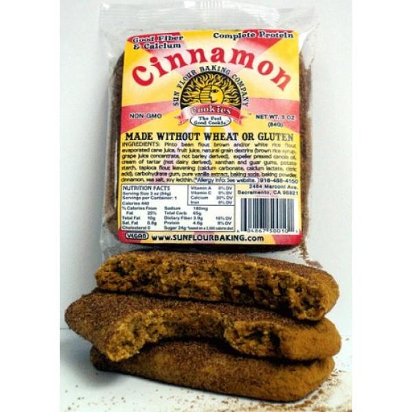 Gluten Free Cinnamon Snickerdoodle Cookies - 5 GIANT COOKIES!