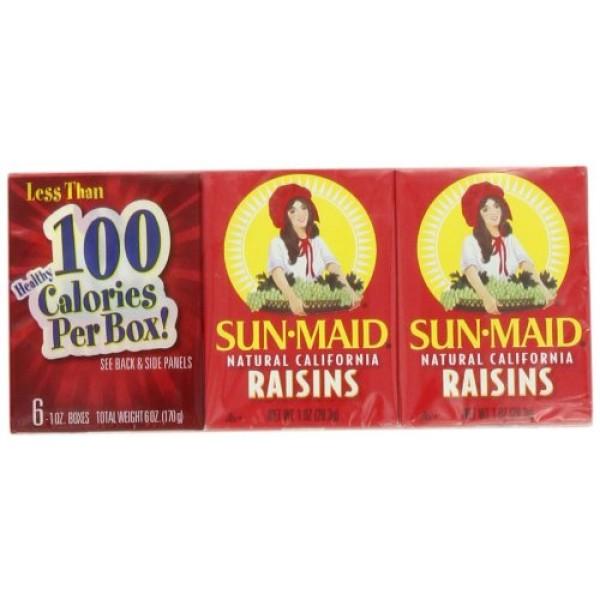 Sun Maid California Raisins, 6-Count, 1-Ounce Cartons Pack of 8
