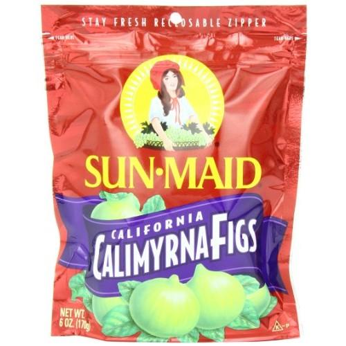 Sun Maid Calimyrna Figs, 6-Ounce Bags Pack of 6