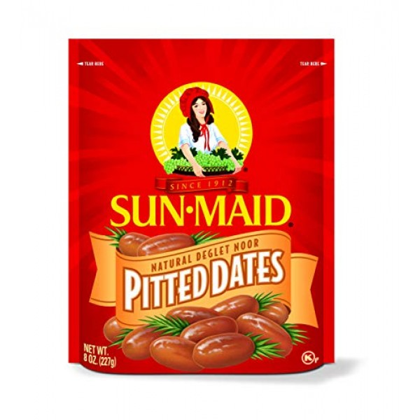 Sun Maid Pitted Dates, 8-Ounce Pouches Pack of 5