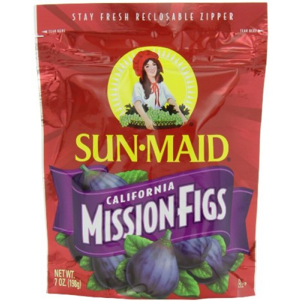 Sun Maid California Mission-Figs, 7-Ounce Pouches Pack of 6