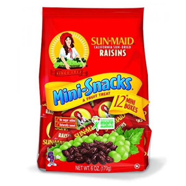 Sun Maid Raisins Mini Snacks 12 ct, Pack of 3
