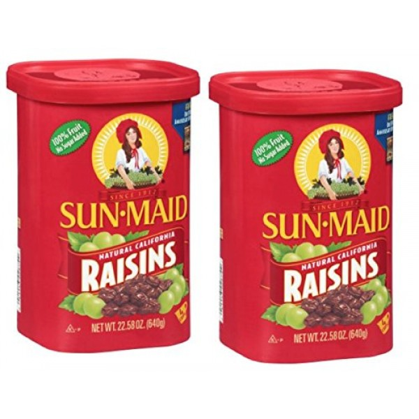 Sun Maid Natural California Raisins , 22.58oz Pack of 2