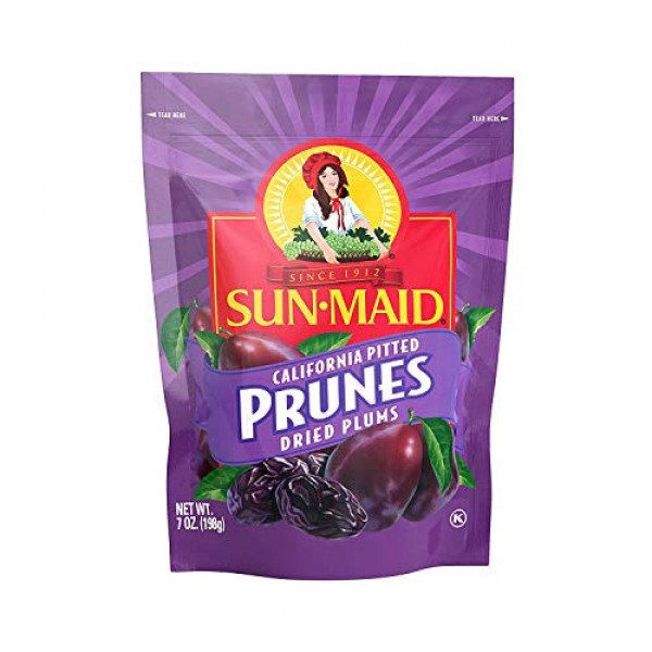 Sun-Maid California Pitted Prunes, 7 oz bag Pack of 1